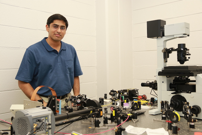 Abhijit Marar at the Advanced Imaging Lab
