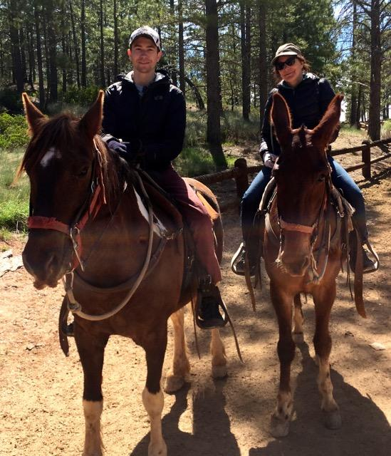 Carol Lynn and son Kyle exploring Bryce Canyon, May 2017